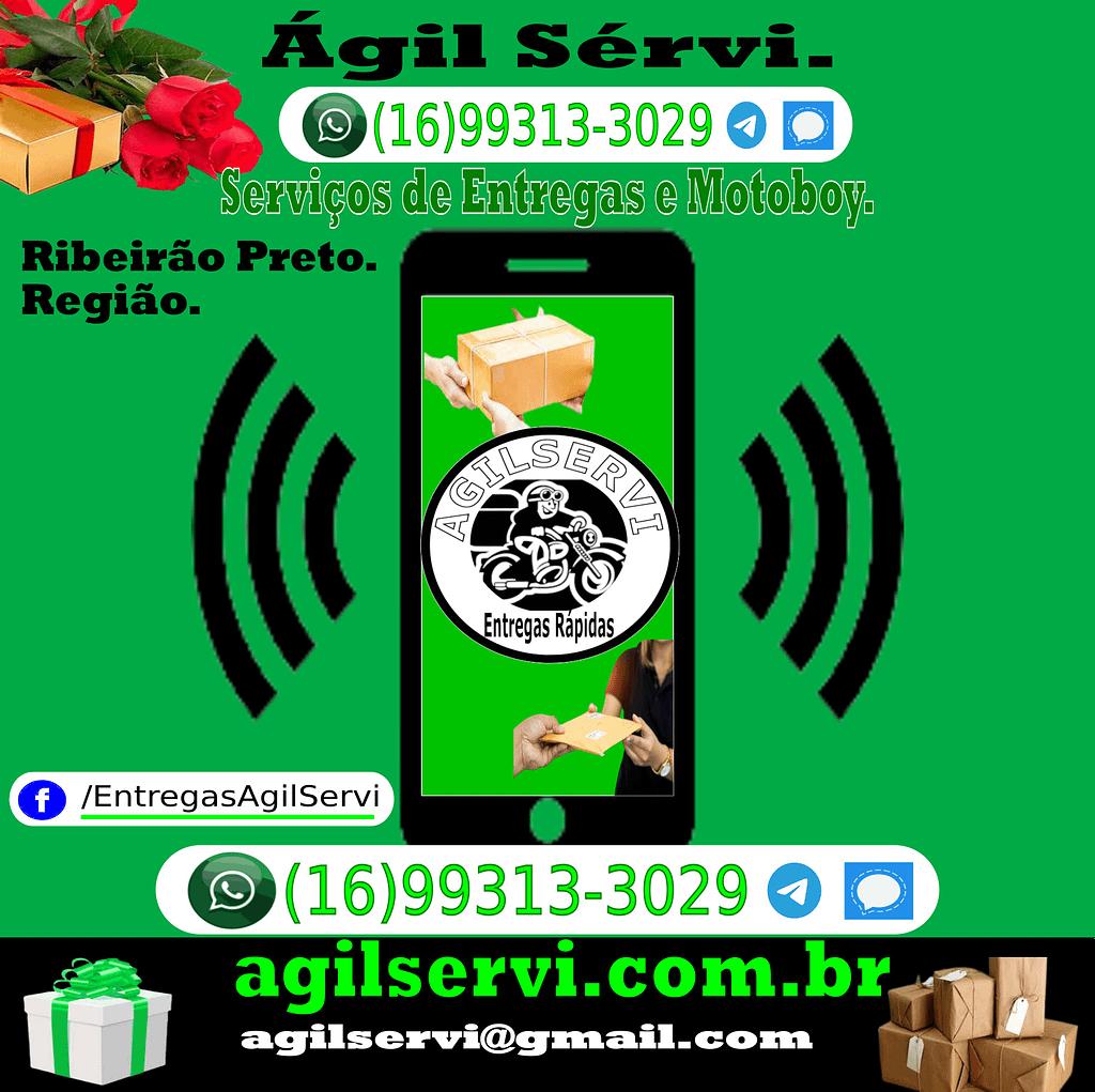 A Ágil Servi Entregas Rápidas é uma empresa de motoboy para entregas rápidas em Ribeirão Preto